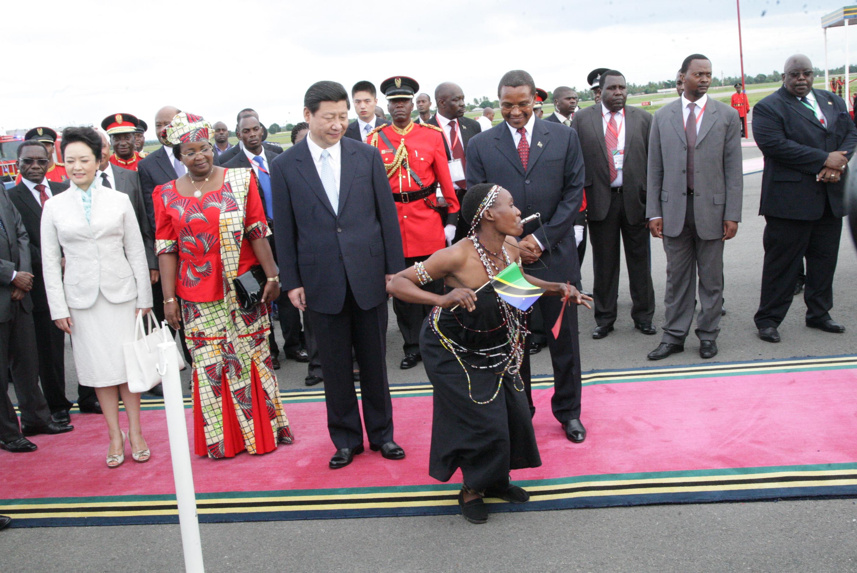 mapokezi  ya ziara ya Rais wa China  Xi Jinping  nchini Tanzania March 24, 2013