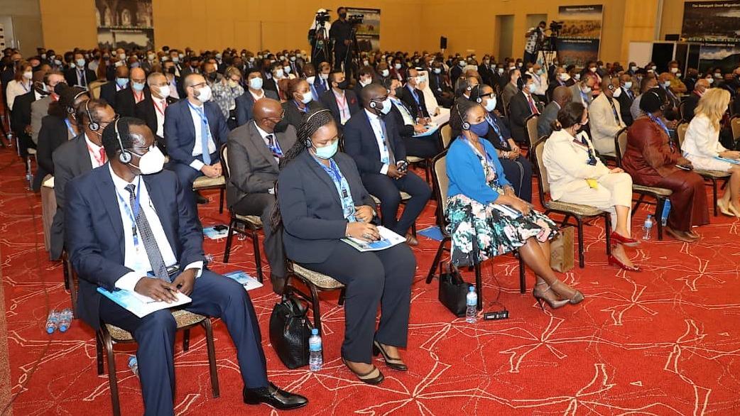 Baadhi ya wadau walioshiriki katika  Mkutano wa 12 wa Baraza la Taifa la Biashara uliofanyika katika Ukumbi wa Jakaya Kikwete, Ikulu Dar es Salaam tarehe 26 Juni, 2021.